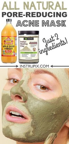 Homemade face mask for acne, blackheads and large pores! It's great for oily and dry skin! It also helps with fine lines and general detoxing. | Instrupix.com