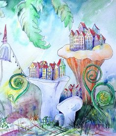 Hey, I found this really awesome Etsy listing at https://www.etsy.com/ru/listing/267393563/fern-city-macro-original-watercolor
