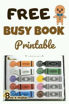 Grab a free busy book printable for your toddler. Activities For 2 Year Olds, Preschool Learning Activities, Preschool Books, Free Preschool, Book Activities, Preschool Activities, Toddler Learning Games, Kindergarten Learning, Diy Busy Books