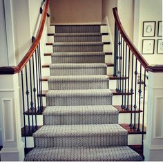 Looking to add some design to your plain staircase? Tuftex offers the best soft flooring styles! Hallway Carpet Runners, Cheap Carpet Runners, Stair Runners, Hall Carpet, Carpet Stairs, Soft Flooring, Natural Carpet, Patterned Carpet