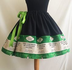 Sherlock Holmes, Literature Lover Skirt By Rooby Lane / RoobyLane