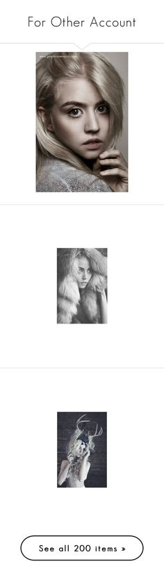 """For Other Account"" by briaramber ❤ liked on Polyvore featuring allison harvard, people, celebrities, pictures, models, blonde, photos, photo, black & white pics and black and white"