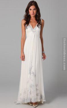 white  line floor length  neck dress cheap evening dresses uk