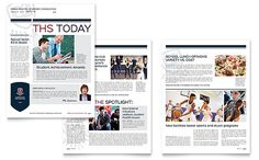 High school newsletter layout     Designs by StockLayouts