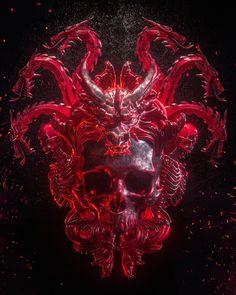 Billelis is the creative studio of UK Illustrator Billy Bogiatzoglou, specialising in Illustration, Art Direction and Design. Arte Horror, Horror Art, Tatto Skull, Skull Artwork, Macabre Art, Cyberpunk Art, Creepy Art, Dark Photography, Dragon Art