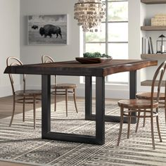 Counter Height Dining Table, Extendable Dining Table, Dining Table In Kitchen, Dining Tables, Dining Rooms, Modern Rustic Dining Table, Kitchen Decor, Farmhouse Table, Dining Area