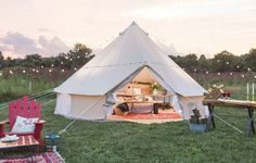 Amazon.com : Dream House Diameter 4m Outdoor Luxury Cotton Canvas Family Camping Bell Tents with Stove Hole : Sports & Outdoors