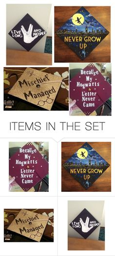 """""""My Graduation Caps of choice"""" by the-disney-is-strong-with-me ❤ liked on Polyvore featuring art"""