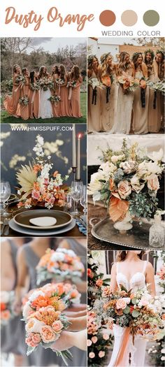 Wedding Color Trends: 30 Sunset Dusty Orange Wedding Color Ideas – Page 3 – Hi Miss Puff