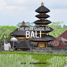 """Bali is a place people picture when they hear the word """"paradise."""" You know, white-sand beaches lined with coconut palms and crystalline waters."""