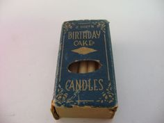Very Cool Vintage Made in USA BIRTHDAY CAKE CANDLES w/ Box Cool Vintage, Vintage Shops, Christmas Teddy Bear, Birthday Cake With Candles, Vintage Candles, Christmas Wood, Vintage Holiday, Holiday Cookies, Birthday Photos