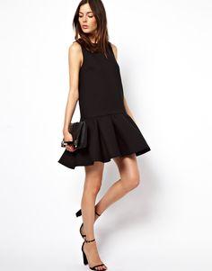 ASOS Quilted Drop Waist Shell Dress