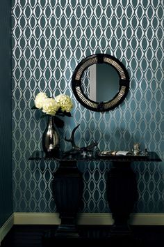 Eclipse Light Blue Diamond Geometric Wallpaper on HauteLook