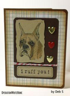 Ruff you! Cute dog card