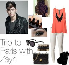 """Trip to Paris with Zayn"" by directioner1011 ❤ liked on Polyvore"