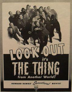 1950s Sci Fi B MOVIE THE THING Howard Hawk Advertisement vintage cinema Life Magazine by Christian Montone, via Flickr