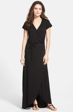 LOVEAPPELLA+Cap+Sleeve+Faux+Wrap+Jersey+Maxi+Dress+(Regular+&+Petite)+available+at+#Nordstrom