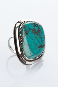 Uniquely shaped turquoise ring. $240.00