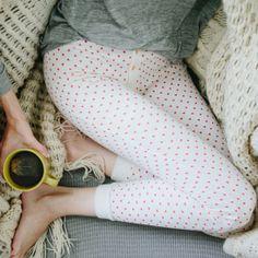 heart long johns & a cup of tea. madewell.