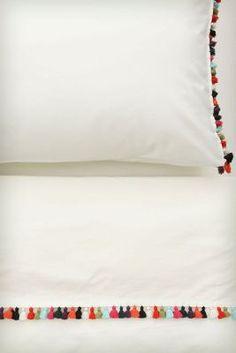 Sombrero Sheet Set, rainbow tassels, fun sheets