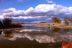 Spring is coming Balaton Spring Is Coming, Hungary, Clouds, River, Mountains, Nature, Painting, Outdoor, Art