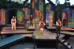 The cast of The Comedy of Errors during the last dress rehearsal (6/24). Photo by Jay Yamada.