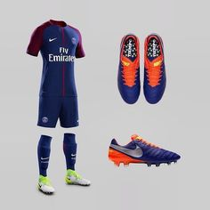 The new @psg 17/18 home kit alongside the 'Time to Shine' Tiempo. Decent combo? ⭐️ Use the LINK IN BIO to cop Nike's new pack!