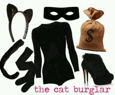 Halloween costume. Cat burglar.