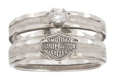 harley davidson wedding and engagement rings Harley-Davidson® Womens Wedding Diamond White Gold Diamond Ring . Harley Davidson Wedding Rings, Harley Davidson Jewelry, Classic Harley Davidson, Davidson Bike, Harley Gear, Harley Bikes, Harley Davison, Ring Verlobung, Solitaire Ring