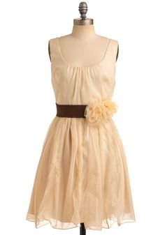 Love for flower girl in white and brown