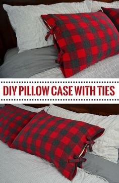 How to make a DIY bed pillow case with ties- step by step tutorial with pictures #TomorrowStartsTonight #ad