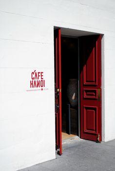 beautiful door colour. sexy. Restaurant