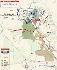 On December 31, 1862, advancing forces under Union general William Rosecrans fought a pitched battle with Braxton Bragg's Army of Tennessee on the outskirts of Murfreesboro, Tennessee.
