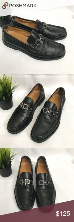 "Salvatore Ferragamo Men's Shoes loafers  size 11 Salvatore Ferragamo Men' ""Gancini Horsebit"" Loafers   Size:  11   Color: Black   Condition: very good condition, it has some minor wear on the shoes. Please check photo Salvatore Ferragamo Shoes Loafers & Slip-Ons"