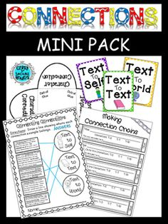 My connections unit is coming up in a few weeks.  I wanted to make a few fun activities that would keep students interactive with their books during silent reading. I hope this pack is super useful to you and your students!~This mini pack includes...~Text Connection Chains~Posters to hang the chains from (Test to Self.