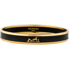 Hermes Narrow Caleche Bracelet ($345) ❤ liked on Polyvore featuring jewelry and bracelets