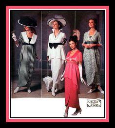 MY FAIR LADY-Costume Sewing Pattern-Four Edwardian-Titanic Era Dress Designs-Hats-Wrap Skirts-Peplum-Empire Waist-Uncut-Size 14-20-Rare by FarfallaDesignStudio on Etsy