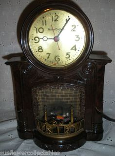 Vintage Master Crafters Fireplace Motion Clock Works | eBay
