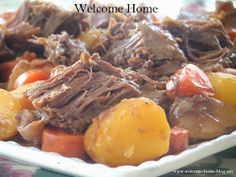 Welcome Home: ♥ Slow Cooked Pot Roast