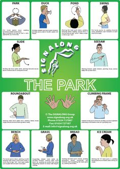 Park Poster, J) Posters, Signalong Store Sign Language Basics, Sign Language Chart, Sign Language For Kids, Sign Language Phrases, Sign Language Alphabet, Sign Language Interpreter, Learn Sign Language, British Sign Language, Language Lessons
