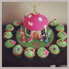 Birthday Cakes  Tinkerbelle Giant Cupcake