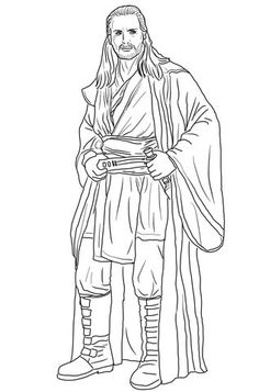 qui gon jinn coloring pages - darth vader coloring lightsaber google search for my