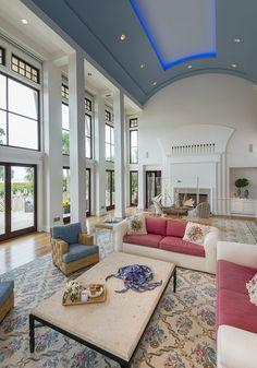 Vaulted ceiling with cove lights at 133 Flyway Drive on #Kiawah Island (available for sale as of 01.25.17) #LuxuryRealEstate #LuxuryHomes | Kiawah Island Real Estate