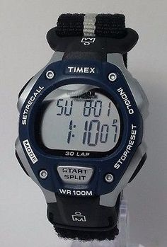 #Timex t5h421 #men's ironman triathlon  silver/blue/black velcro #watch overstock,  View more on the LINK: http://www.zeppy.io/product/gb/2/222221659781/