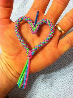 Neon Square Twist Stitch Heart by doggie-dew on DeviantArt