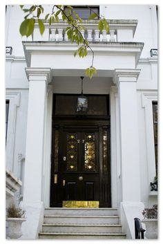 Gal Meets Glam - 2014 October 21 A Day in Notting Hill, Location: London - Travel Photo Inspiration The Door Is Open, Classic House, House, Town And Country, Front Door, Doors, House Rooms, Country Living Uk, House Tours