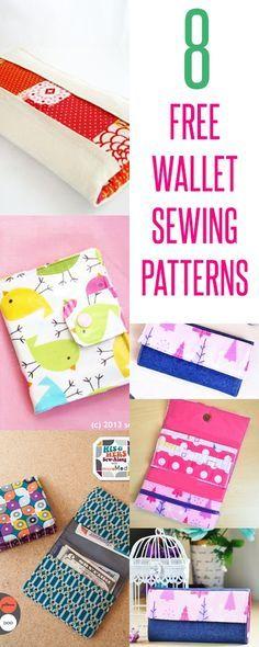 free wallet patterns | wallet sewing tutorials | diy wallets | kids wallets