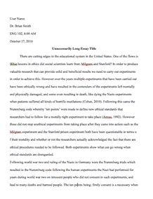 dialog essay example