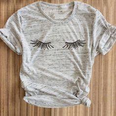 $6.7 AUD - Vessos Women T-Shirt Short Sleeve O-Neck Printed Eyelashes Tops 2017 Harajuku #ebay #Fashion