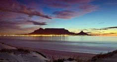 Table mountain during a beautiful sunset in Cape Town , South Africa Places Around The World, Around The Worlds, Beautiful World, Beautiful Places, Beautiful Sunset, Table Mountain Cape Town, Africa Destinations, Vacation Destinations, Dream Vacations